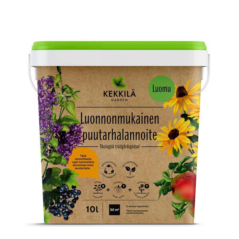 Kekkilä+Luonnonmukainen puutarhalannoite pakkaus