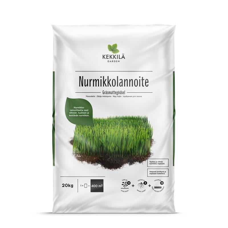 Kekkilä Nurmikkolannoite 20 kg pakkaus