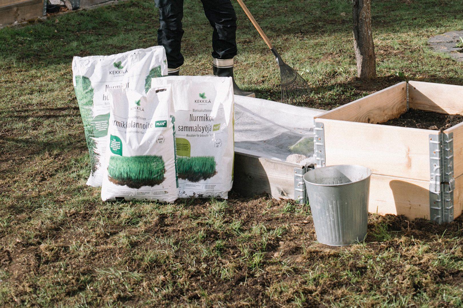 Kekkilän nurmikonhoito tuotteet