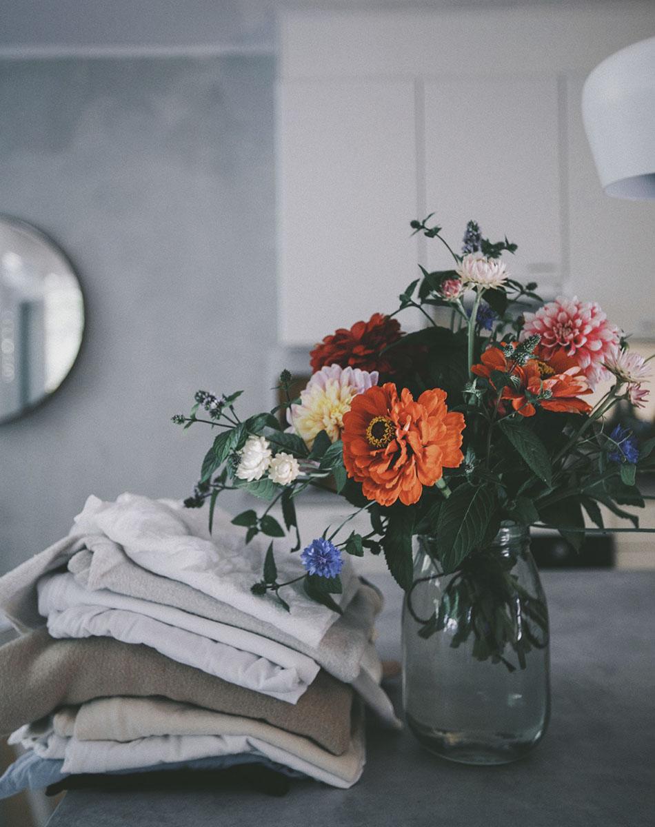 Kukkakimppu omista kukista
