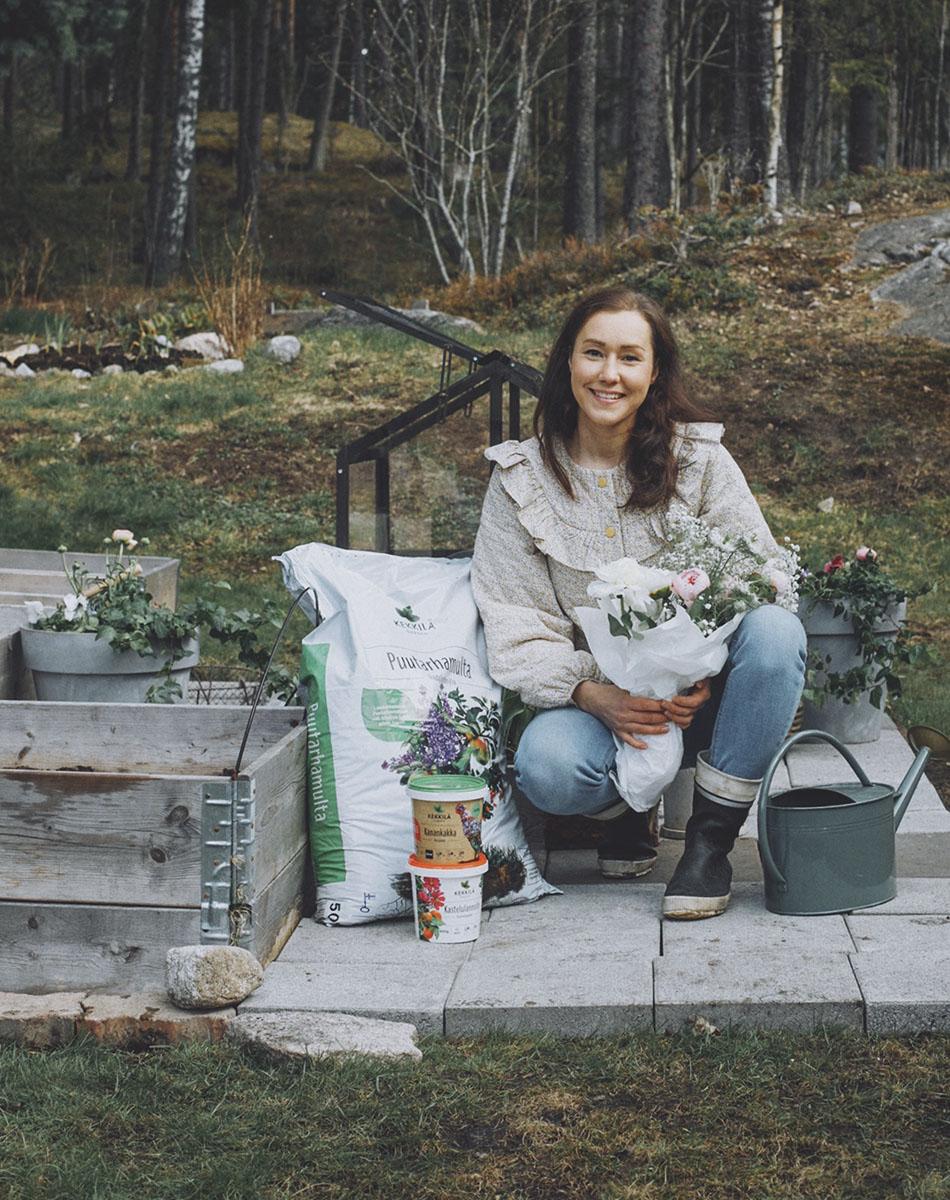 Leikkokukkien kasvatus kukkakimppu