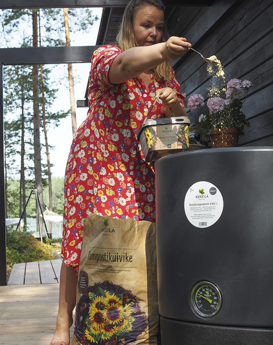 kompostoi biojätteet kotikompostori
